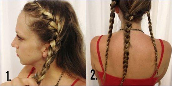 Как сделать вечернюю прическу с косами