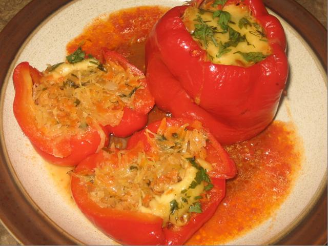 Фаршированный перец овощами рецепт