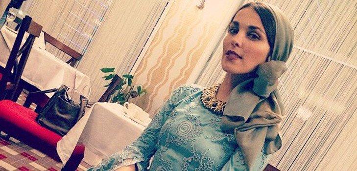 Сати Казанова облачилась в чеченский свадебный наряд