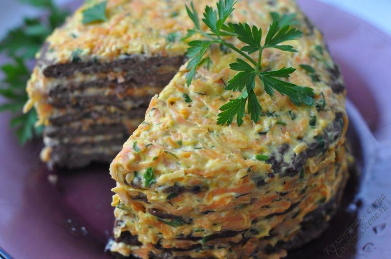 Рецепт печёночного торта из куриной печени с фото пошагово
