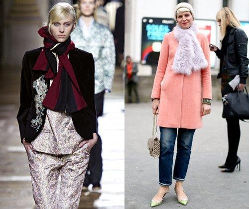 Модные шарфы зима 2013-2014 – фото модных женских шарфов и платков 2014 года