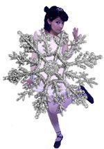 Новогодний костюм снежинки