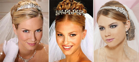 Свадебные прически с диадемой: эталон стиля и грации