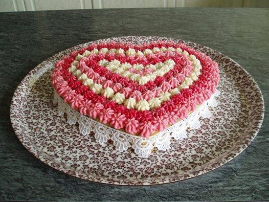 Торт в виде сердец фото своими руками