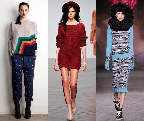 Трикотаж зима 2014 - 2014: тенденции и фото модной одежды из трикотажа 2014 года
