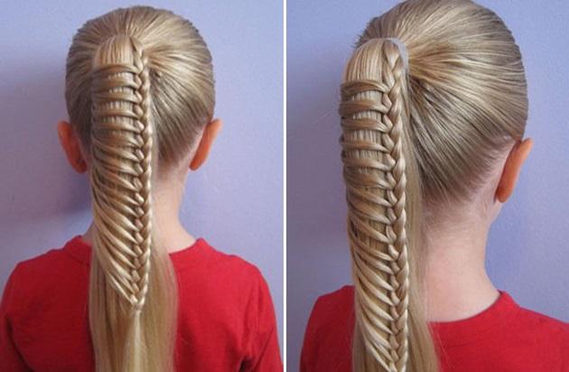 Причёски на каждый день в школу на средние волосы фото
