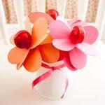Цветок-валентинка в подарок на День влюбленных
