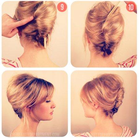 Видео как сделать вечернюю прическу на средние волосы