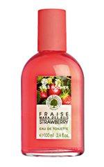 Yves Rocher LES PLAISIRS NATURE Strawberry туалетная вода, гель для душа, мыло, бальзам для губ