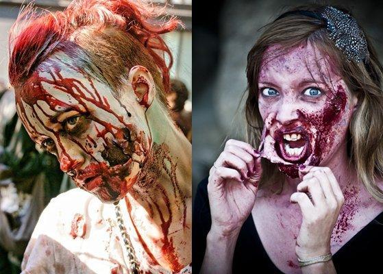 Макияж зомби как сделать