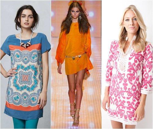 Модные туники весна-лето 2013, фото