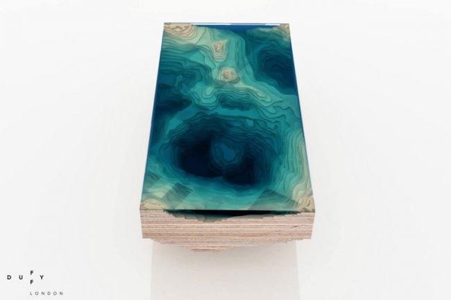 Журнальный столик в виде океана (7  фото)