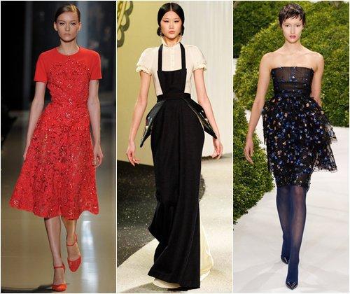 Модные платья на выпускной 2013, стильные фасоны длинных и коротких платьев, фото