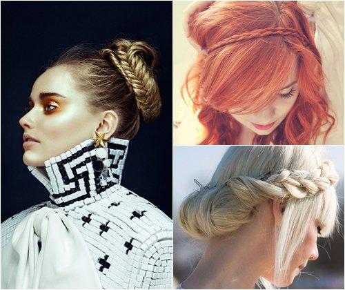 Модные косы зима 2013, модные плетения косичек, фото
