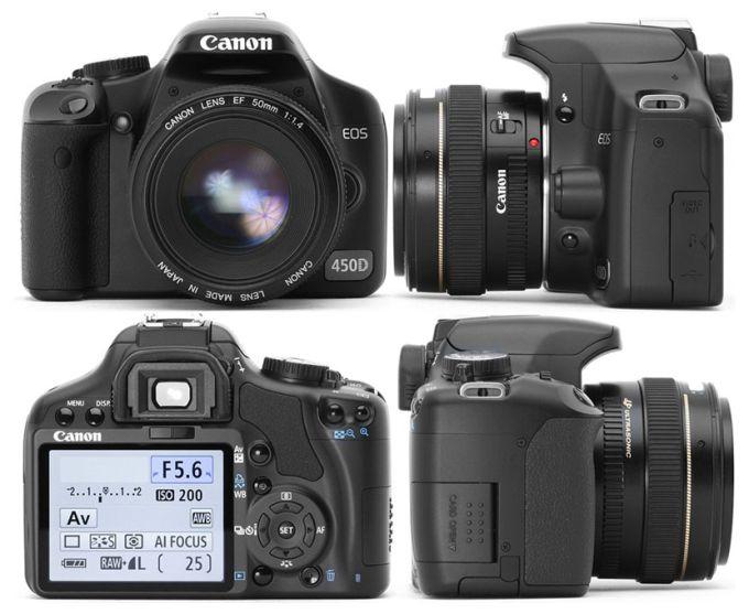 Canon EOS 450D Цифровая камера