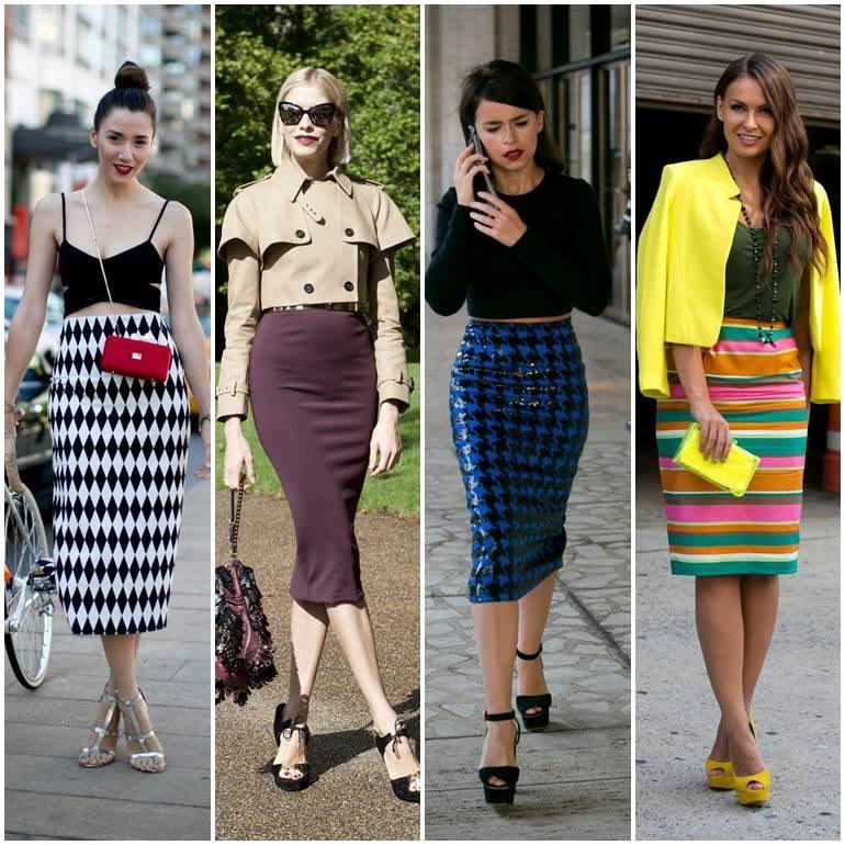 Как правильно и с чем носить юбку-карандаш