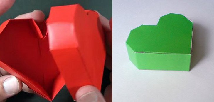 Как сделать коробочку-сердечко своими руками, пошаговый мастер-класс с фото