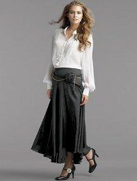 С чем носить длинную юбку