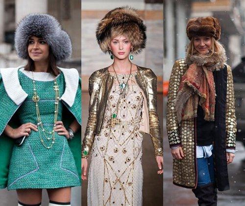 Модные меховые шапки зима 2014: фото самых модных женских меховых шапок 2014 года