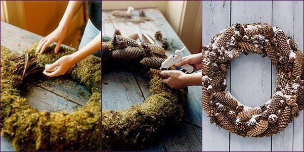 Поделки на Новый год из шишек своими руками: фото мастер-класс