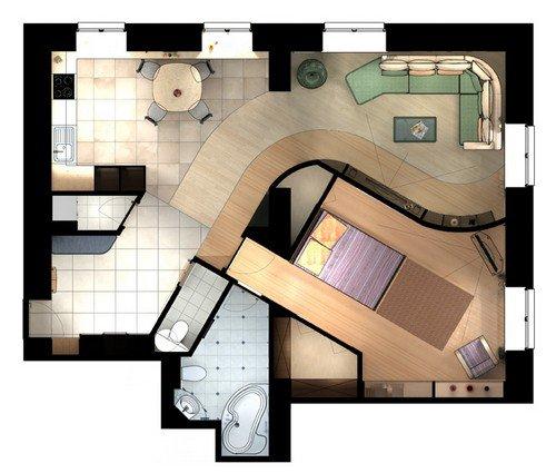 Считаем квадратные метры в помещении правильной и неправильной формы