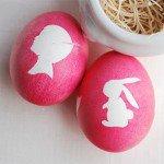 Поделки к Пасхе: пасхальные яйца с силуэтом