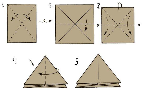 Новогодние игрушки-оригами на елку из бумаги